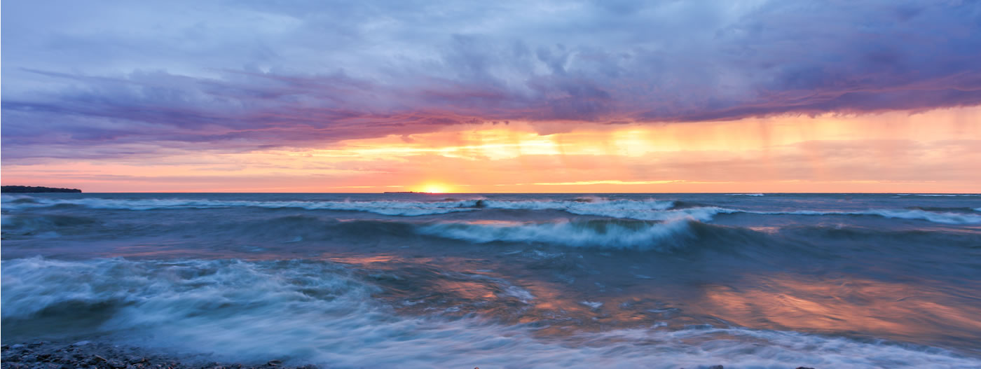Sunrise at Prince Edward Point by Megan Buers
